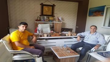 Vali Yardımcısı Ali Bezirgan, Hüseyin Kıran `ı Ziyaret etti