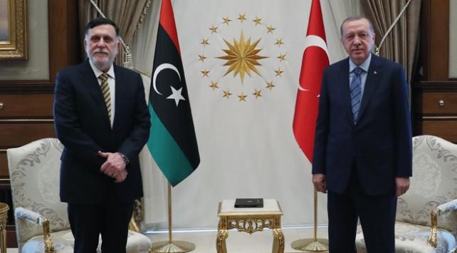 Libya Başbakanı Fayiz es-Serrac'ın Ankara'da Cumhurbaşkanı Erdoğan ile görüştü