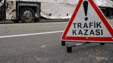 Erzincan'da yolcu otobüsü devrildi 19 kişi yaralı