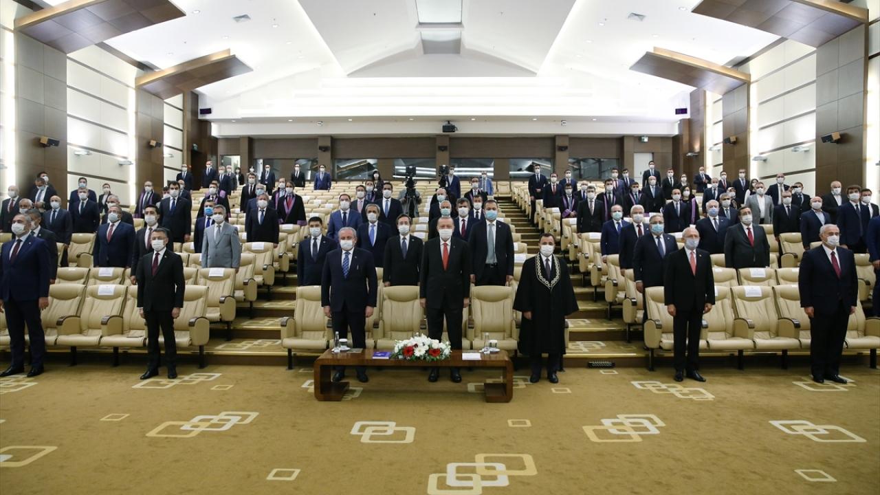 Cumhurbaşkanı Erdoğan, AYM yeni üyesi Basri Bağcı'nın yemin törenine katıldı