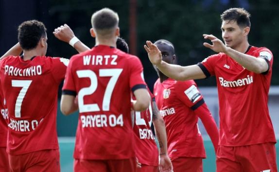 Saarbrücken'i 3-0 yenen Bayer Leverkusen finale yükseldi