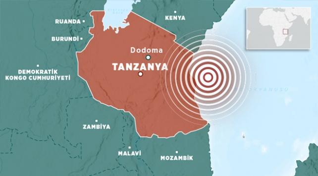 Doğu Afrika ülkesi Tanzanya'da 6 büyüklüğünde deprem meydana geldi.