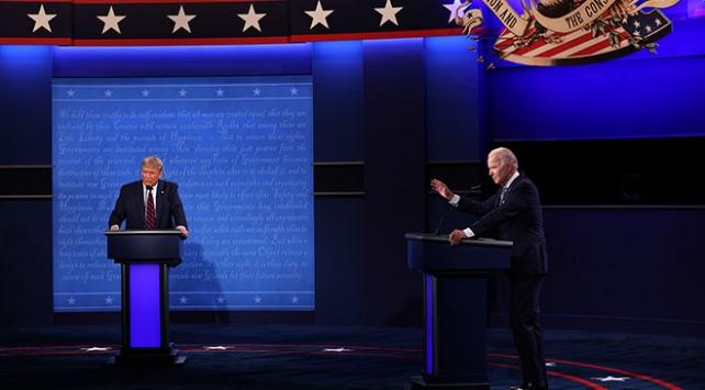 Trump ve Biden'ın ilk canlı yayın tartışmasında tansiyon yükseldi
