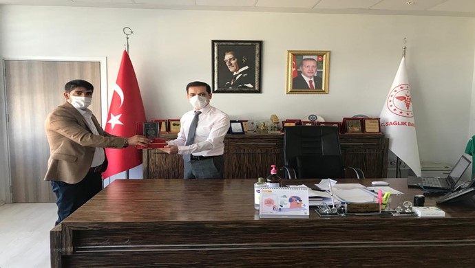 Aziz Akkuş`tan Diyarbakır İl Sağlık Müdürü Tekin `e Ziyaret