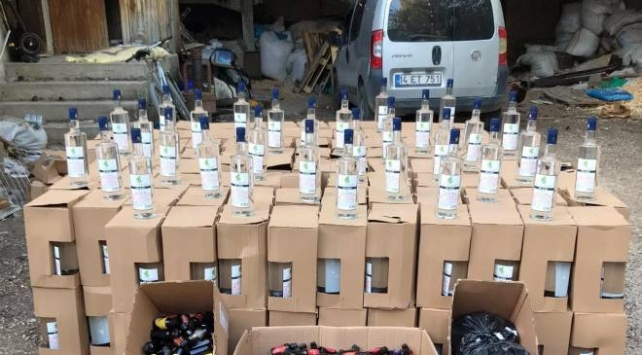 Bolu'da 1110 litre etil alkol ele geçirildi
