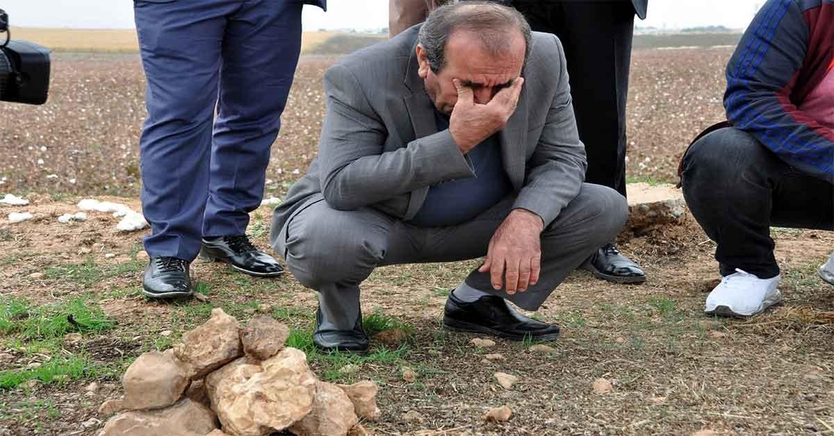 Şehit babasının mezarına 58 yıl sonra kavuştu.