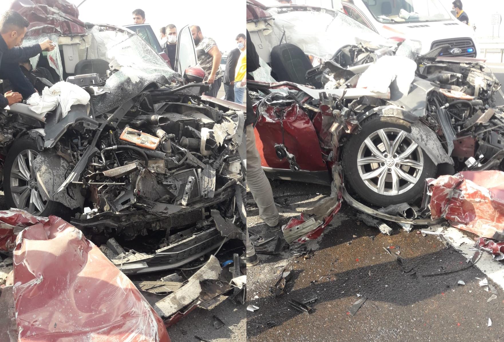 Şanlıurfa'da feci kaza! 2'si ağır 4 yaralı