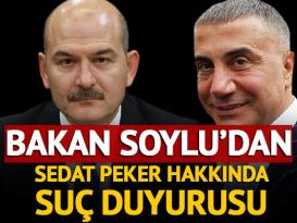 Soylu'dan Sedat Peker hakkında suç duyurusu