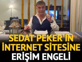 Peker'in internet sitesine mahkemeden erişim engeli